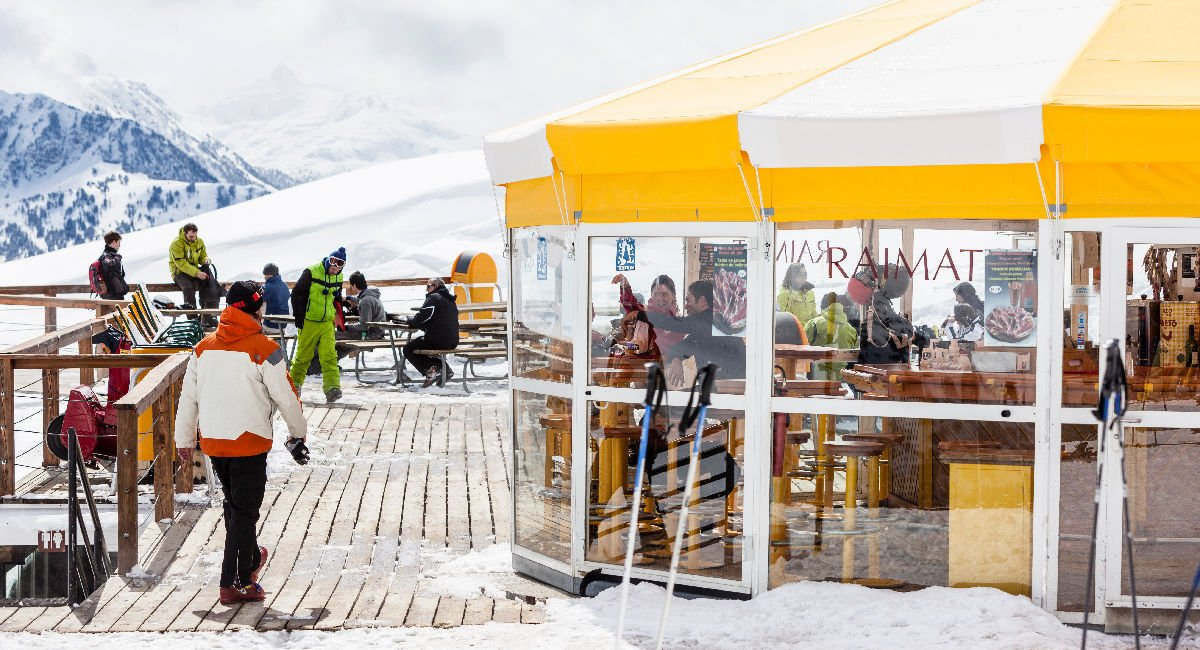 Bar nella località sciistica di Baqueira-Beret