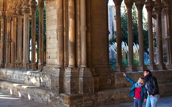 Lleida, dentro la sattedrale di Santa Maria de la Seu Vella