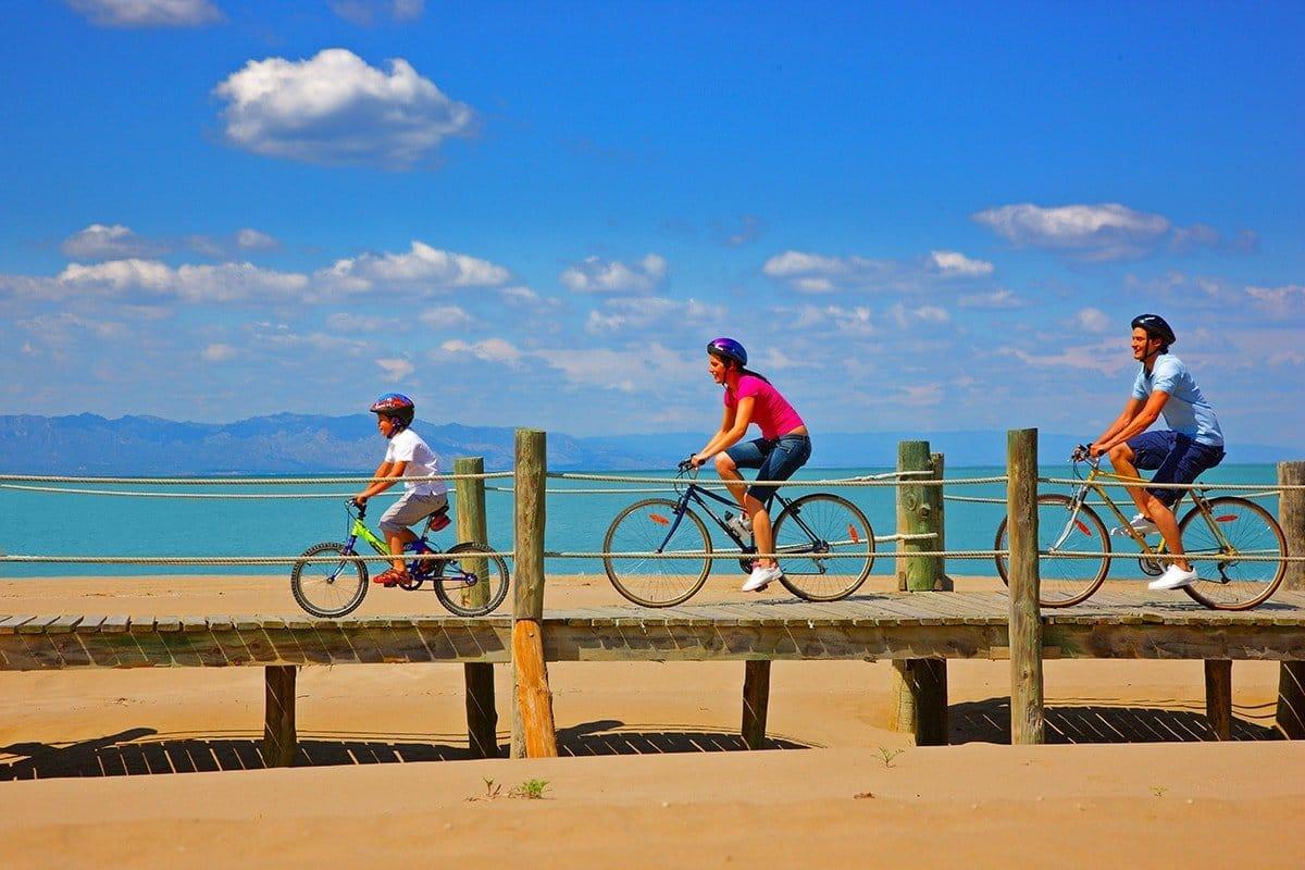 Delta de l'Ebre famiglia in bicicletta