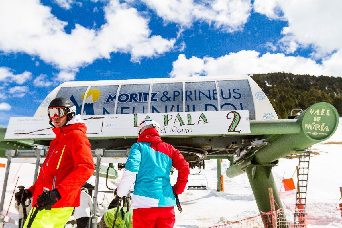Sciatori in Vall de Núria