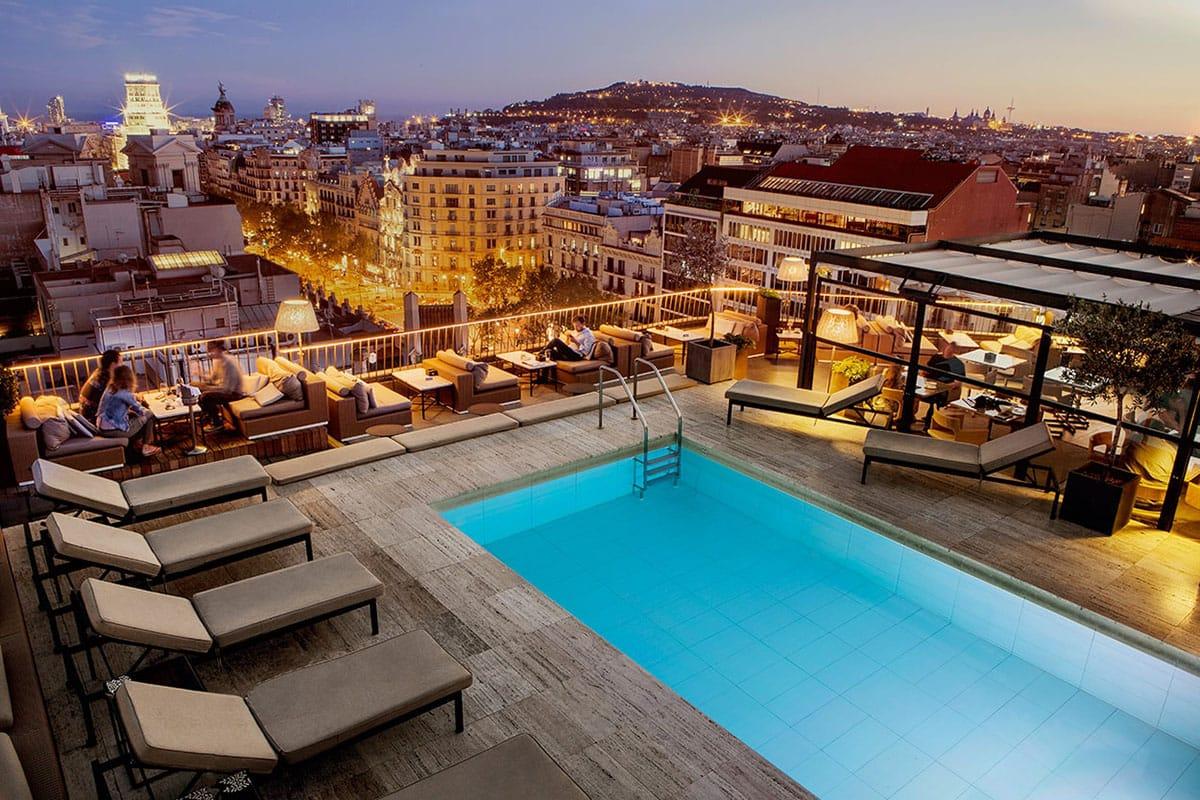 Hotel Majestic a Barcellona terrazza