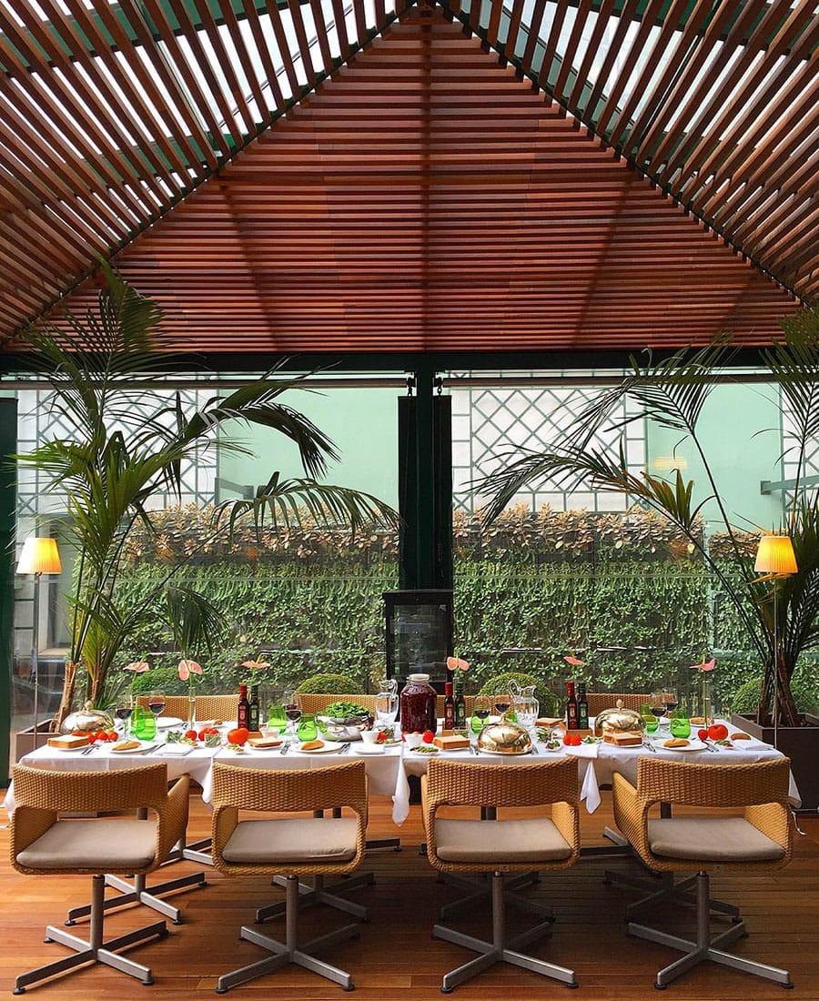 Hotel Majestic Barcellona tavola terrazza