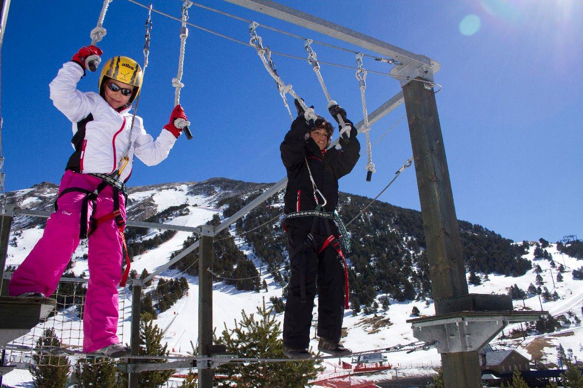Bambini sciatori in Vall de Núria