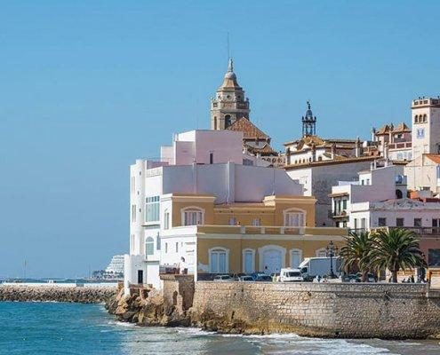 Sitges: spiaggia di Sant Sebastià