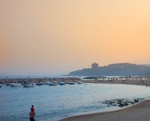 Spiagge per bambini Calonge tramonto