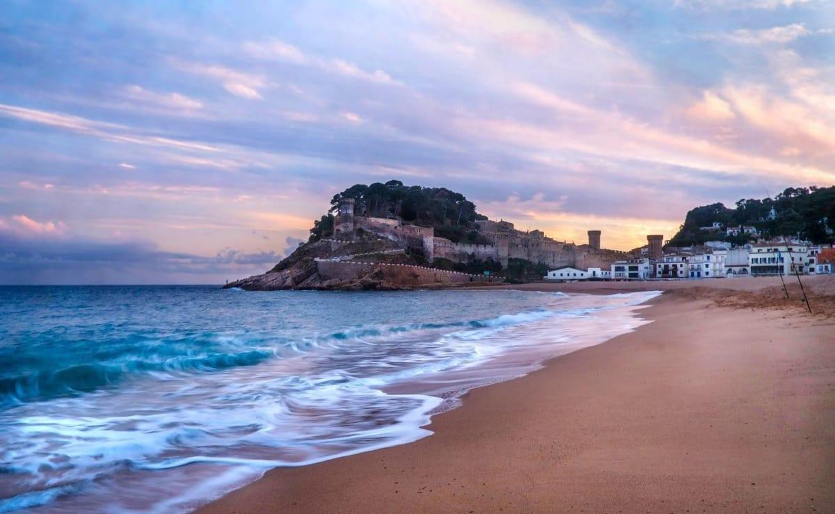 Borghi marinari: Tossa de Mar tramonto