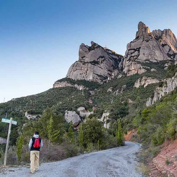 Percorso trekking a Montserrat