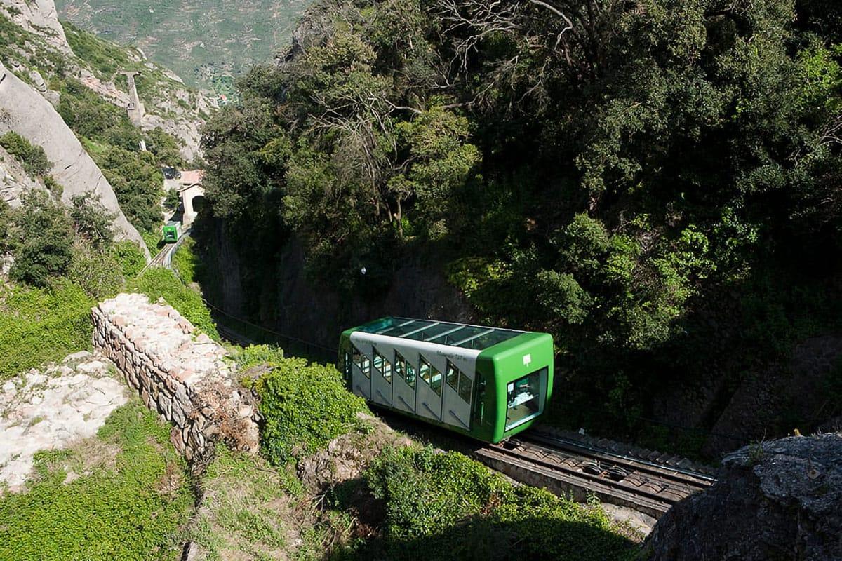 Treno cremagliera Montserrat