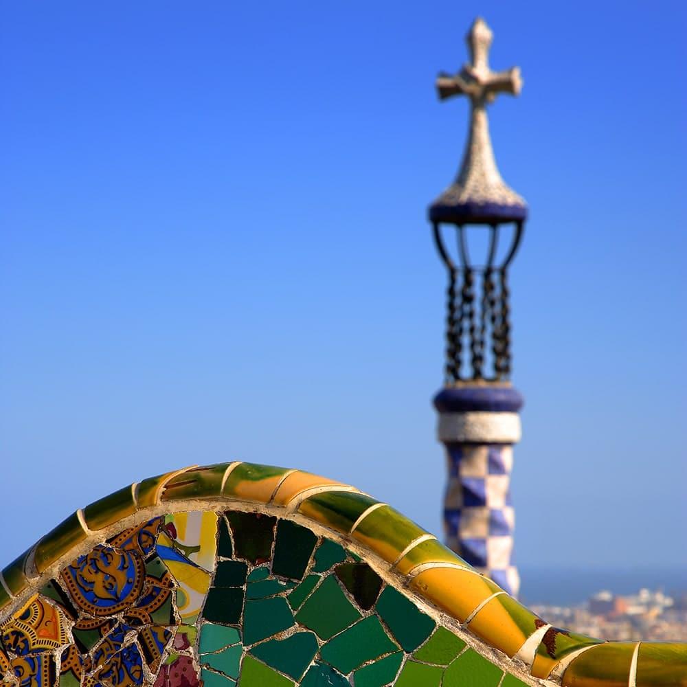Vista dal Park Güell Barcellona Gaudí modernismo