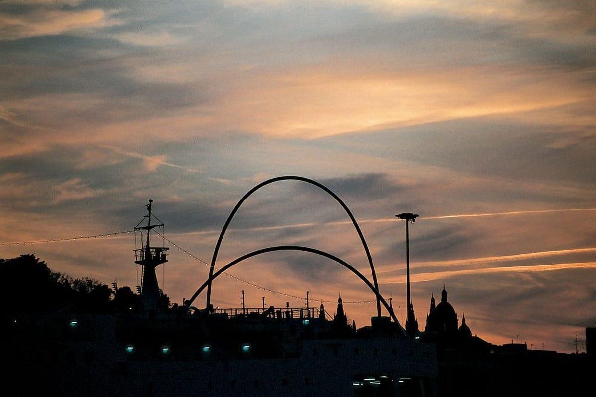 Barcellona in famiglia: tramonto Montjuïc