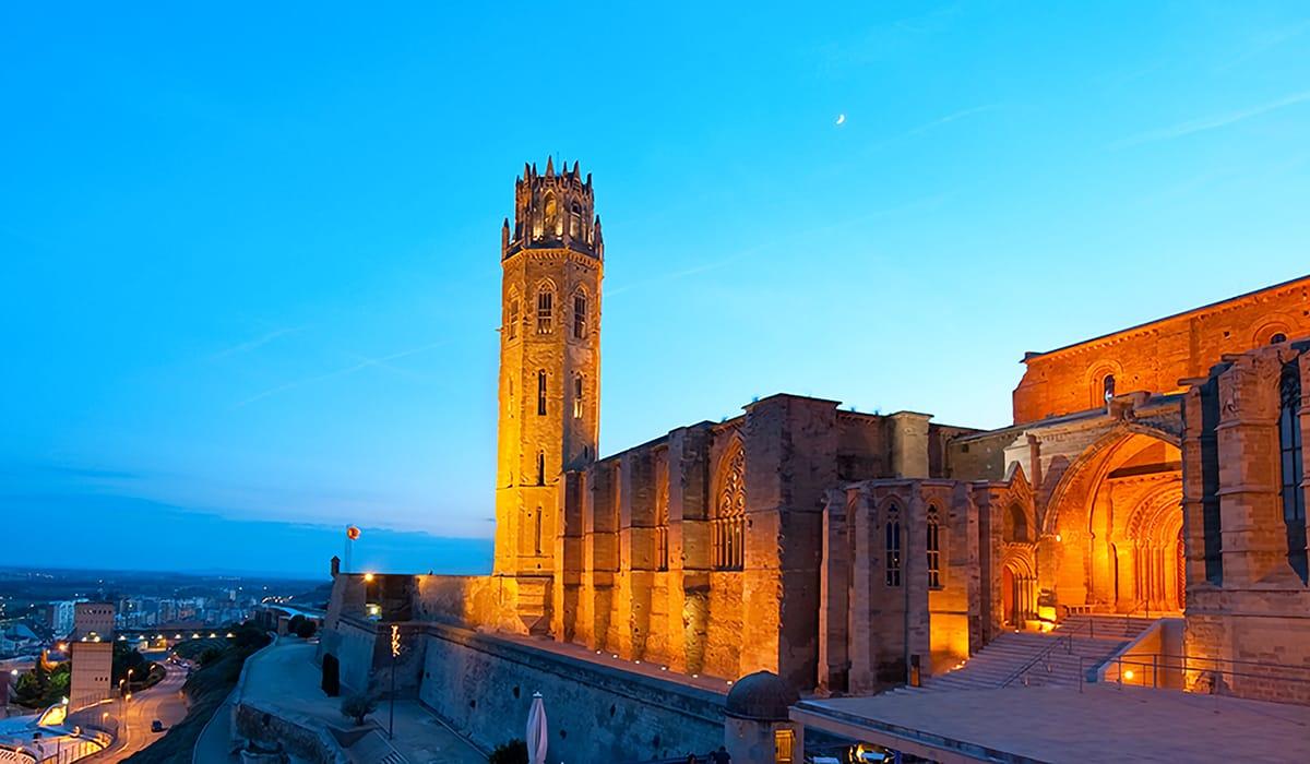 Esterno della cattedrale di Santa Maria de la Seu Vella a Lleida