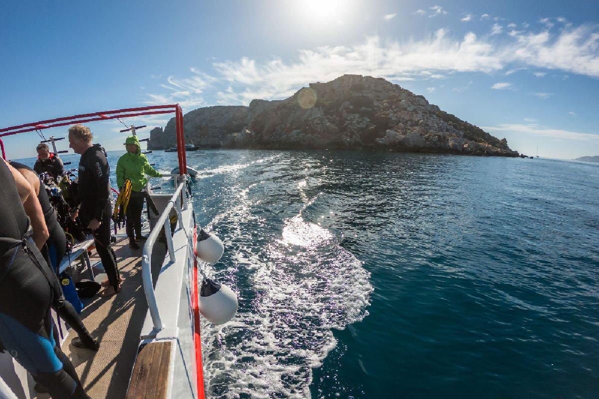 L'arrivo alle Isole Medes