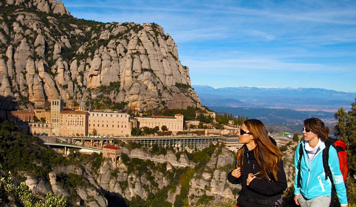 Montserrat trekking sui sentieri