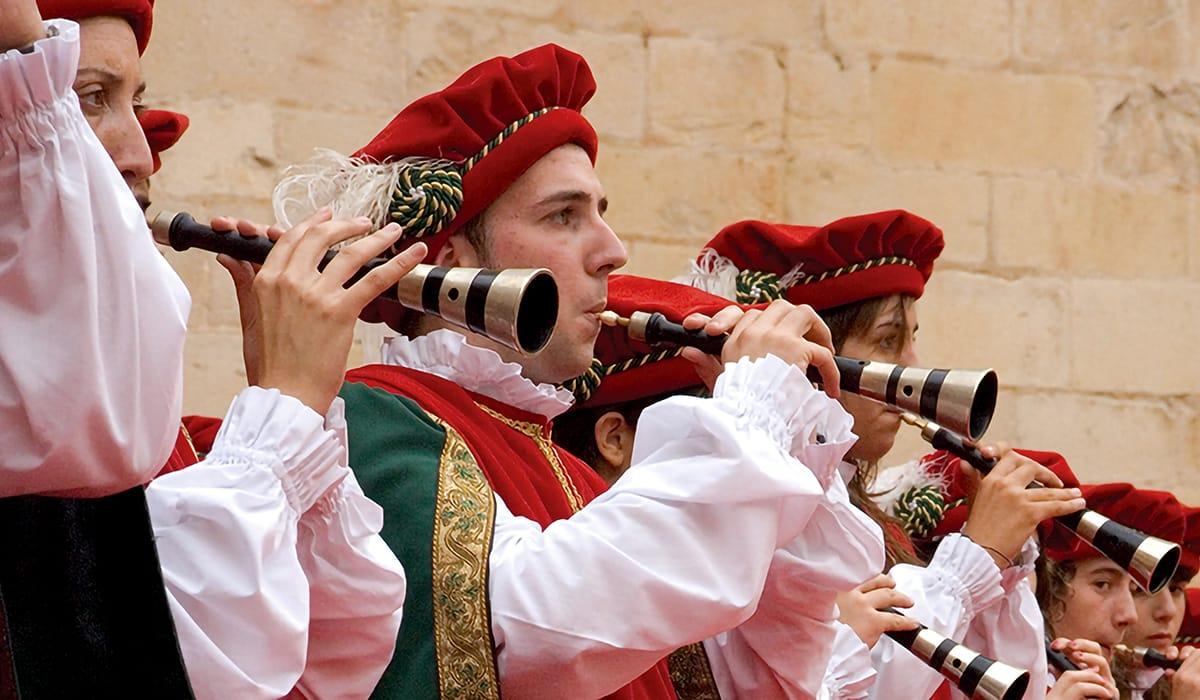Musicisti durante la Festa del Renaixement, Tortosa