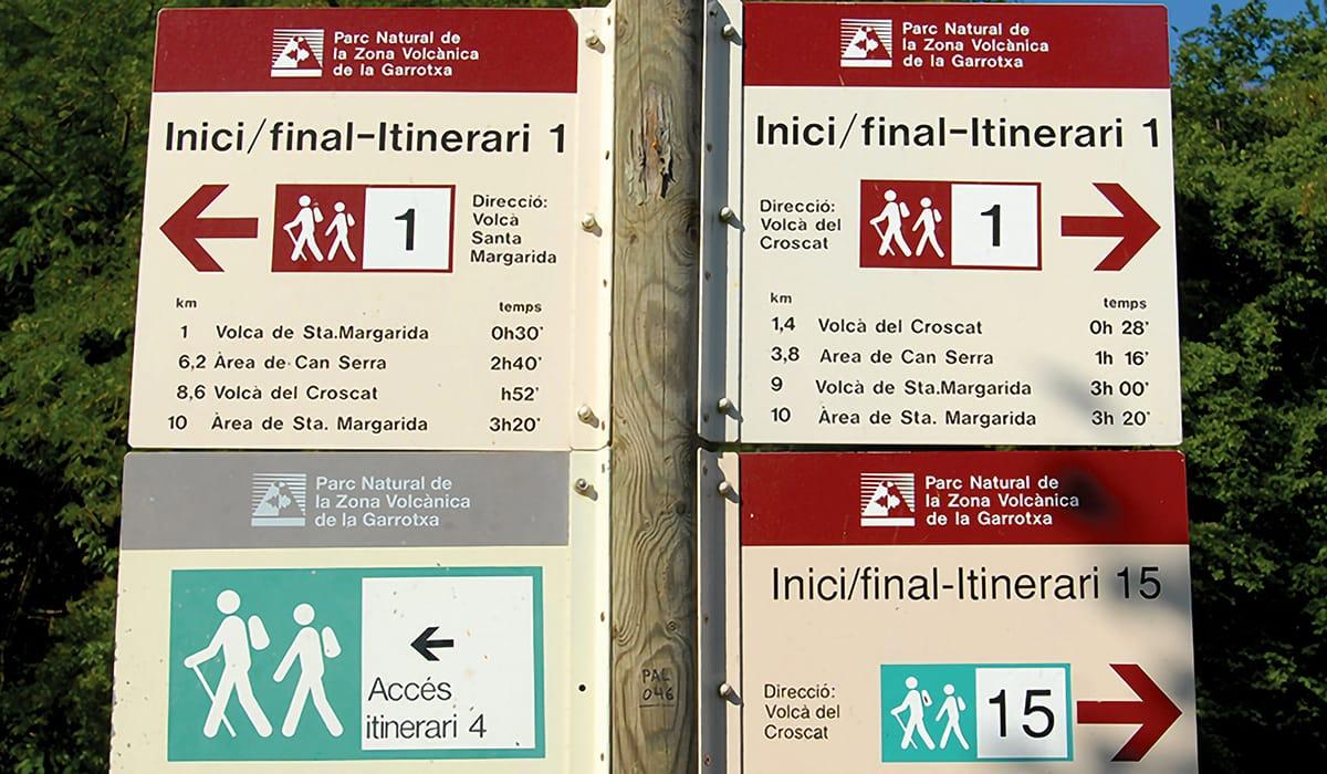 Parco Nazionale de La Garrotxa trekking itinerari
