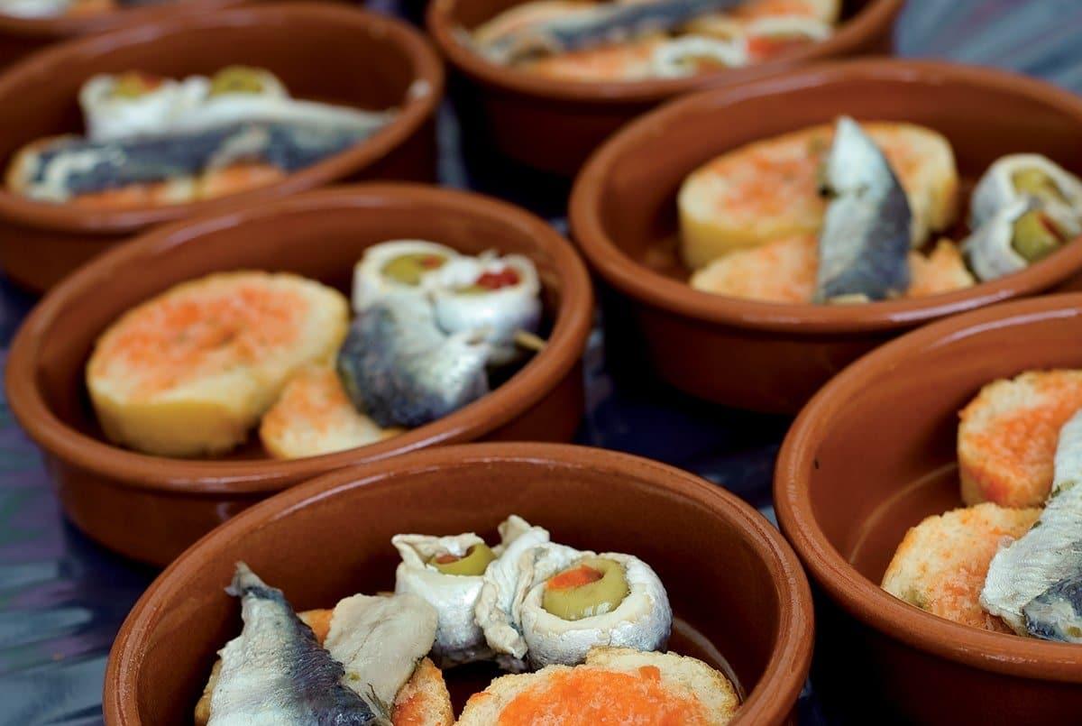 Gastronomia Catalunya: tapas a tavola Costa Daurada