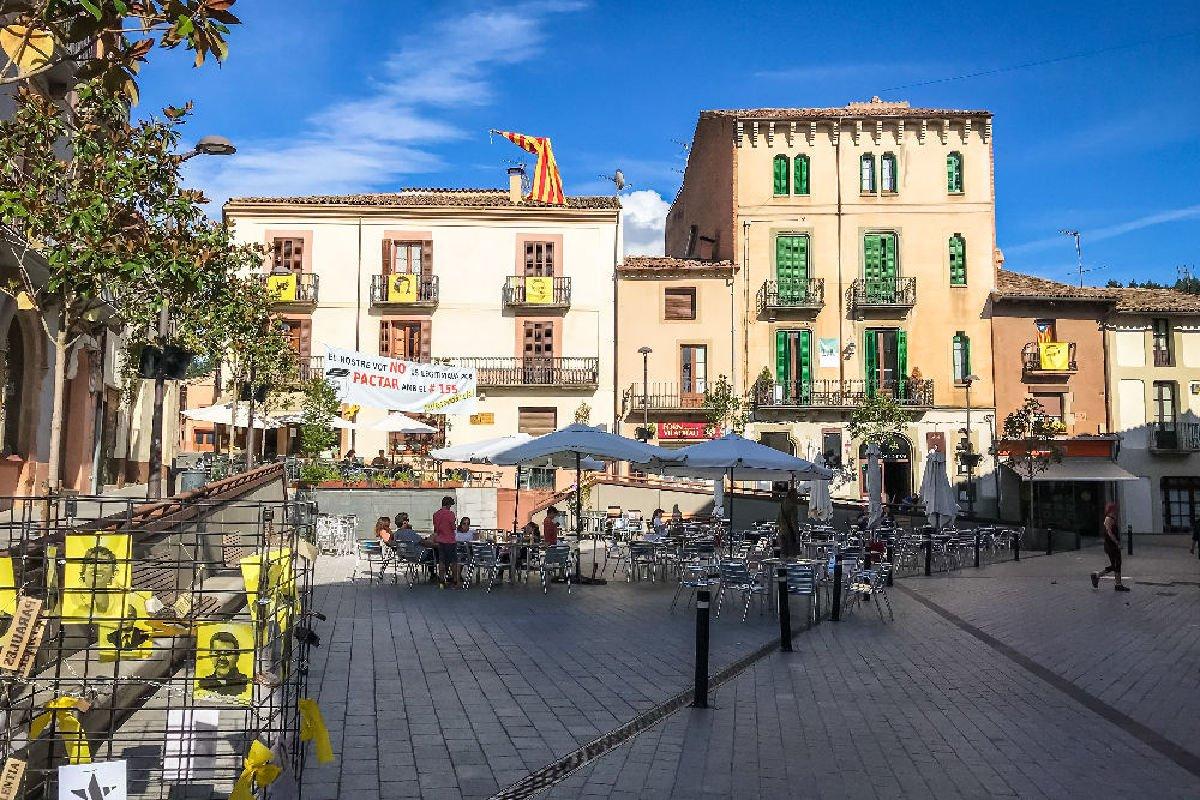 La piazza di Viladrau