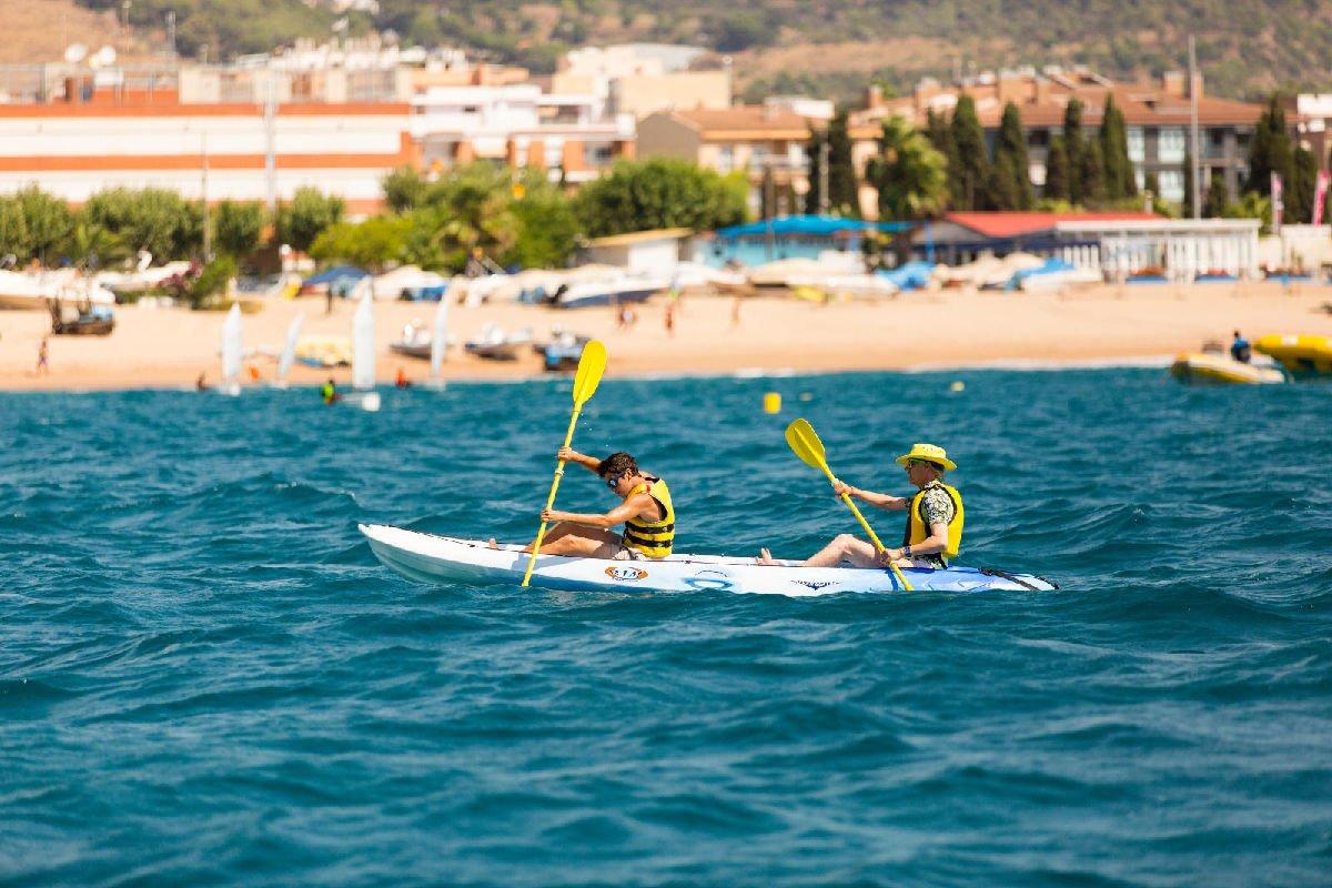 Kayak a Calella