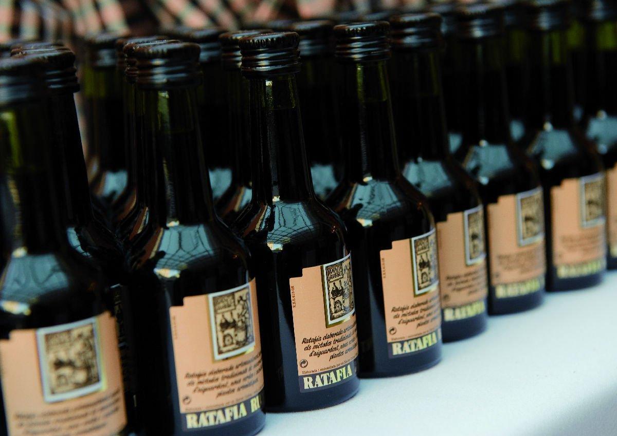 Bottiglie di ratafià della Garrotxa