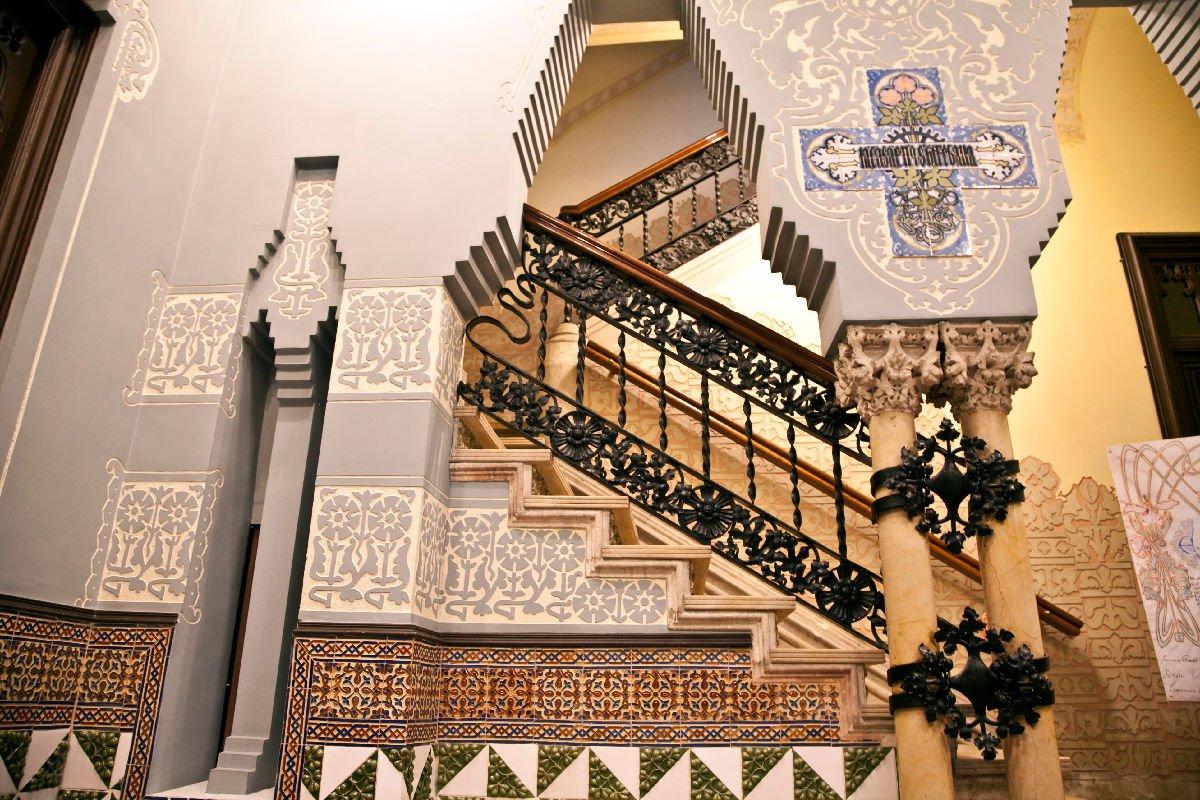 Casa Coll Regas a Mataró interno