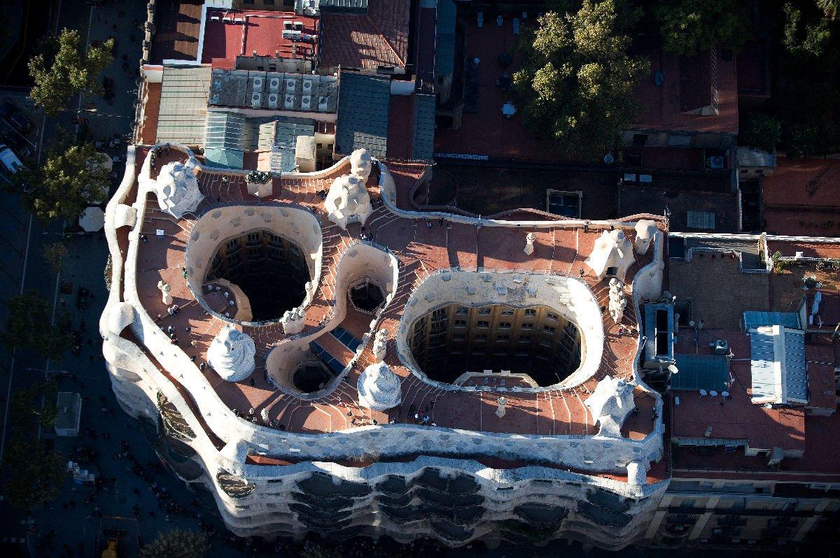 Casa Milà vista dall'alto