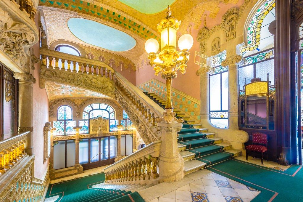 Palau de la Música Catalana scalinata