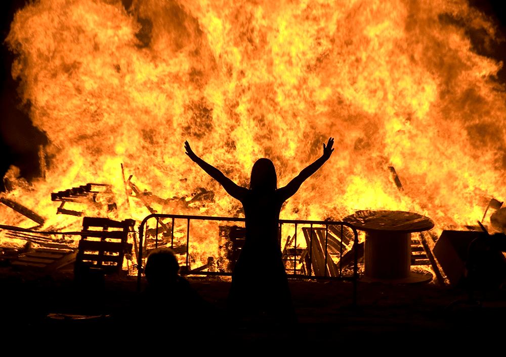 Festival in Catalunya falò