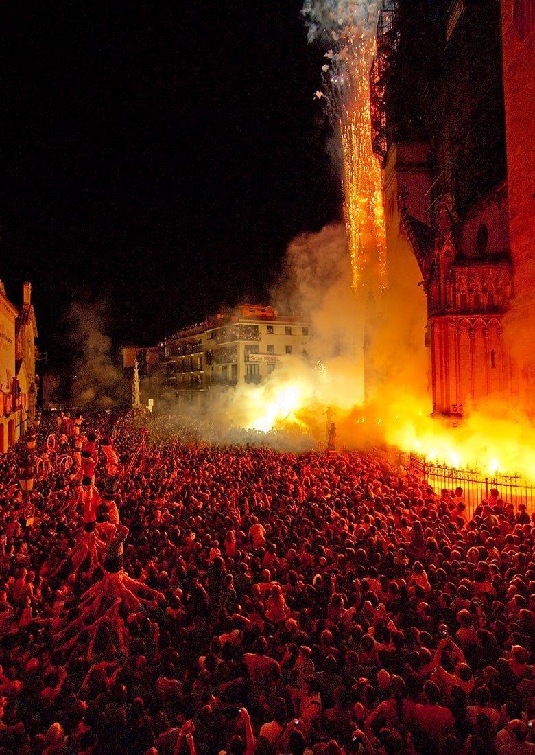 Festa Major Vilafranca del Penedès fuochi d'artificio