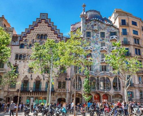 Casa Batlló su Passeig de Gràcia