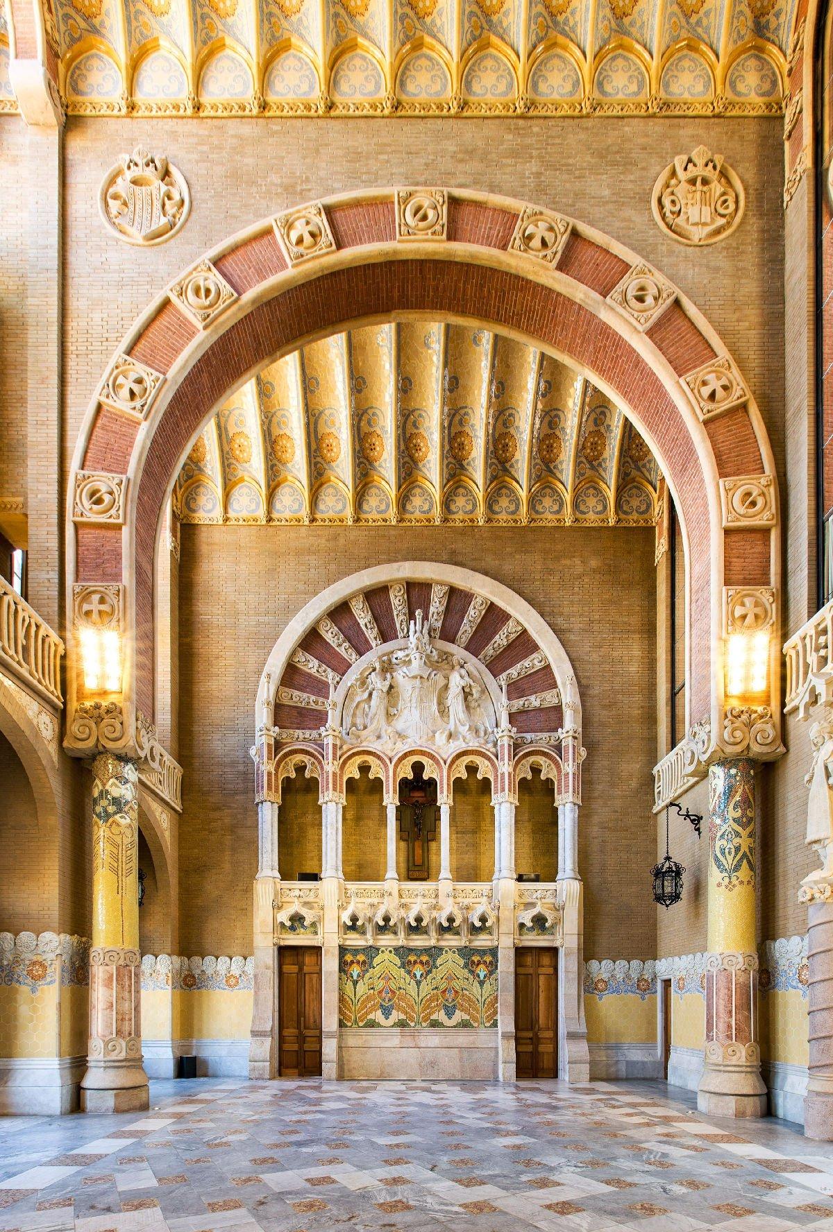 Recinte Modernista, interno padiglione di ingresso