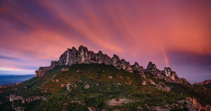 Montserrat veduta tramonto