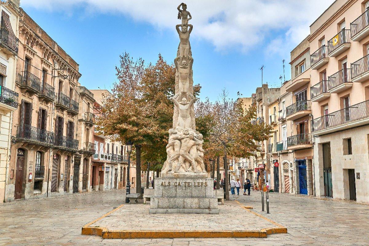 Monumento ai castellers Vilafranca del Penedès