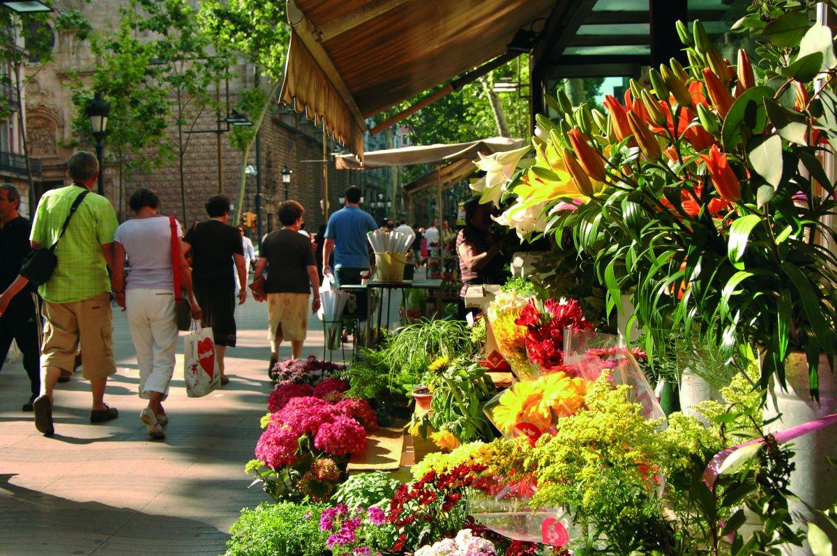 Mercato dei fiori sulla Rambla