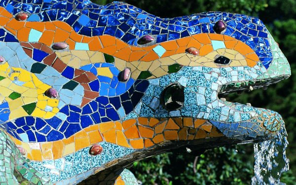Park Güell e la sua salamandra colorata