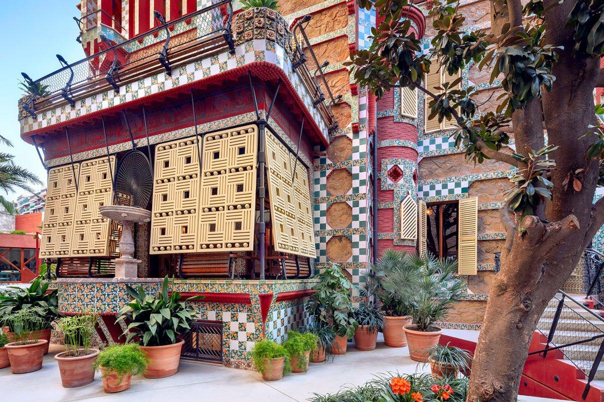 Il patio di Casa Vicens