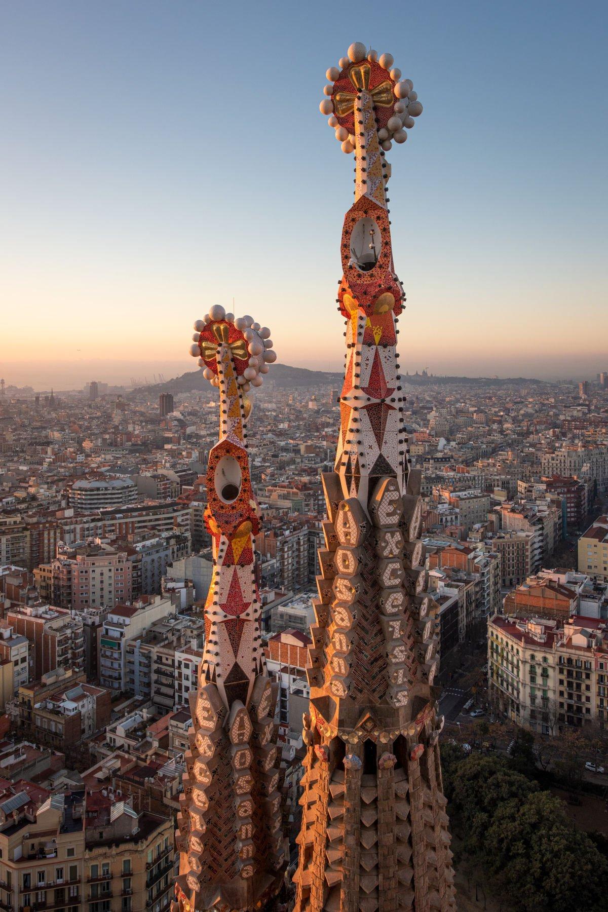 Le guglie della Sagrada Família