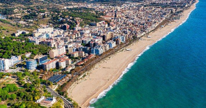 Pineda de Mar spiaggia