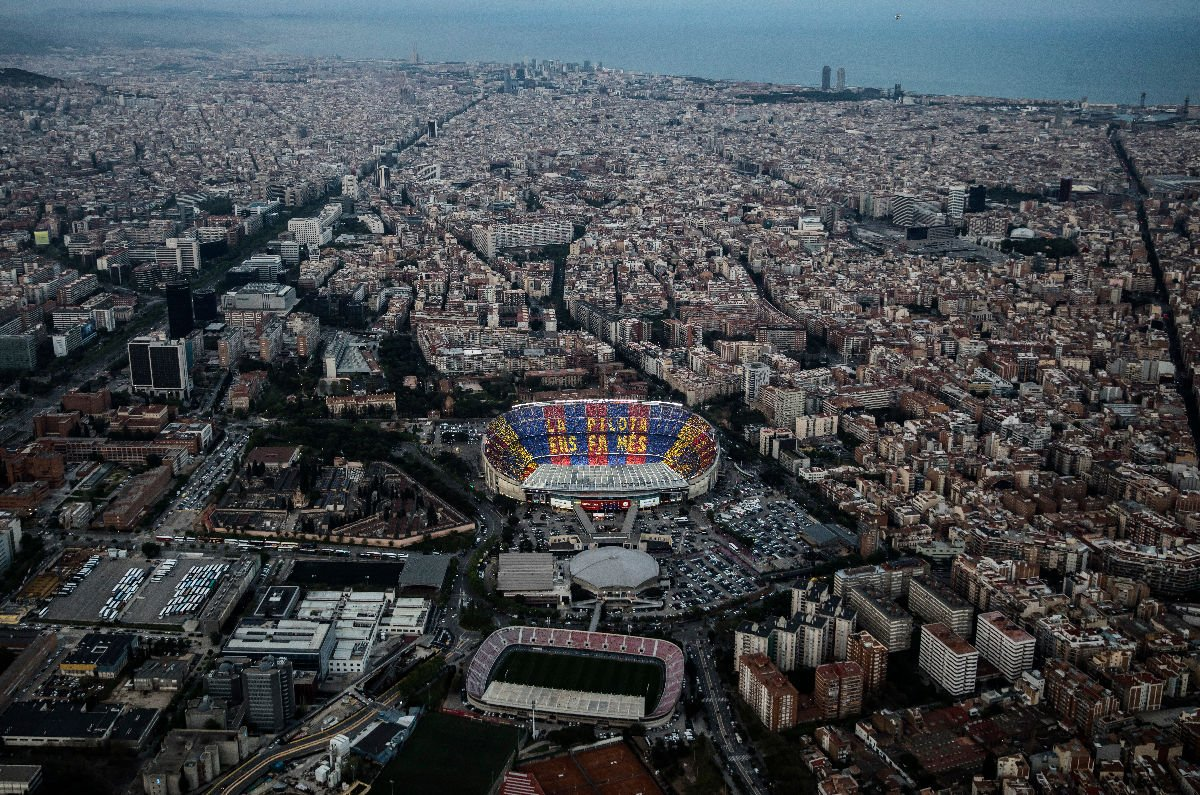 Camp Nou vista aerea