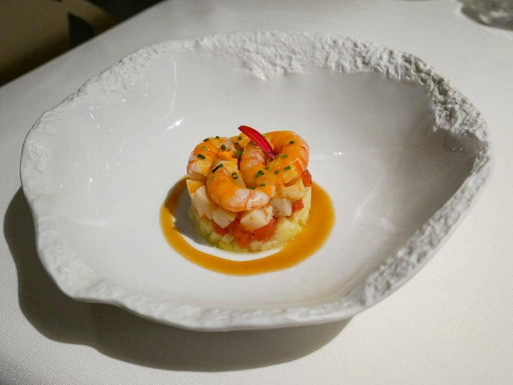 Piatto di pesce ristoranti stellati