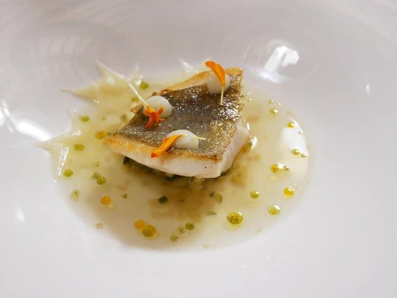 Piatto di pesce Villa Retiro Terres de Lleida