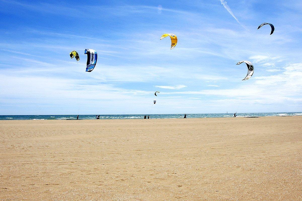 Costa catalana, kitesurf