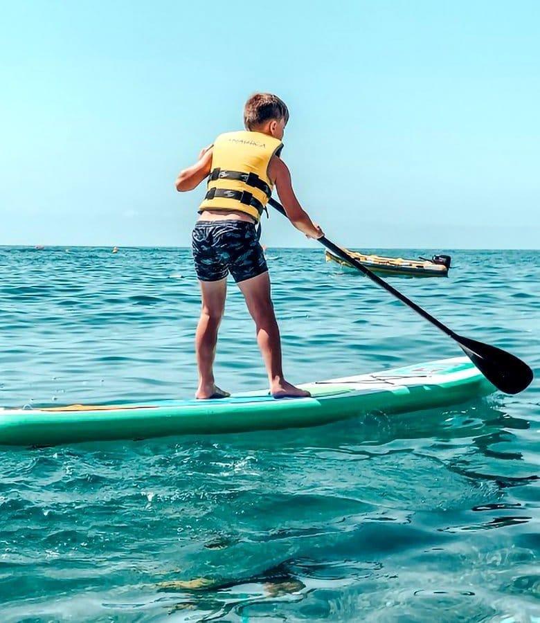 Catalunya con bambini, paddle surf