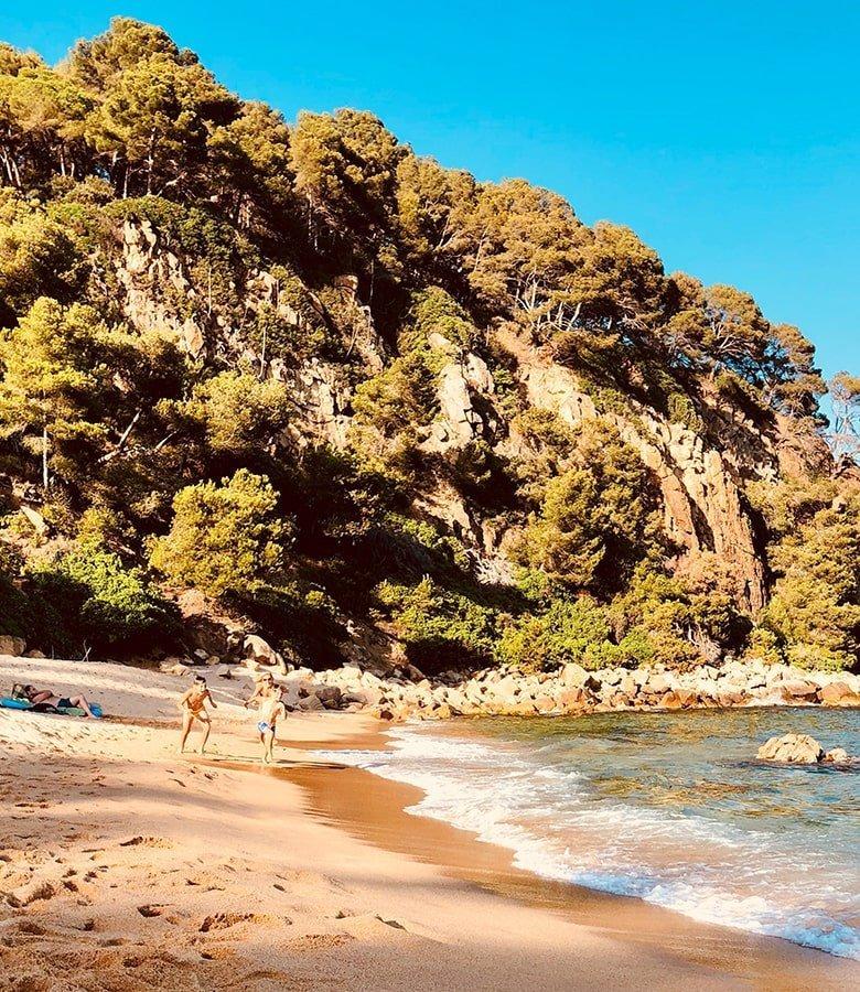 Catalunya con bambini, platja Santa Caterina