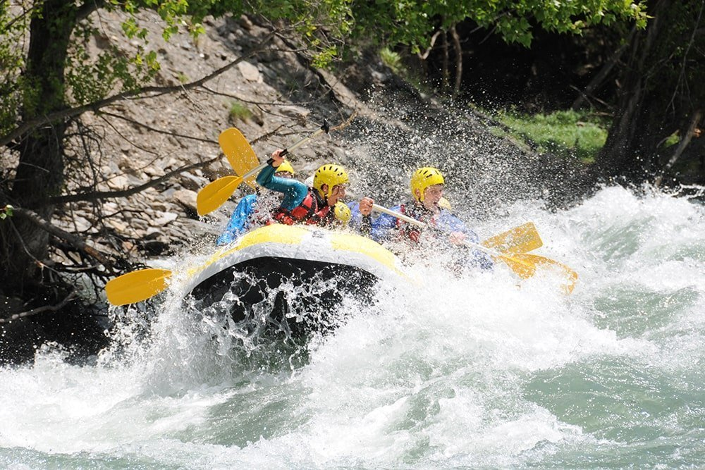 Sport acquatici in montagna, rafting