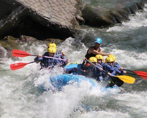 Sport d'acqua in montagna catalunya, rafting