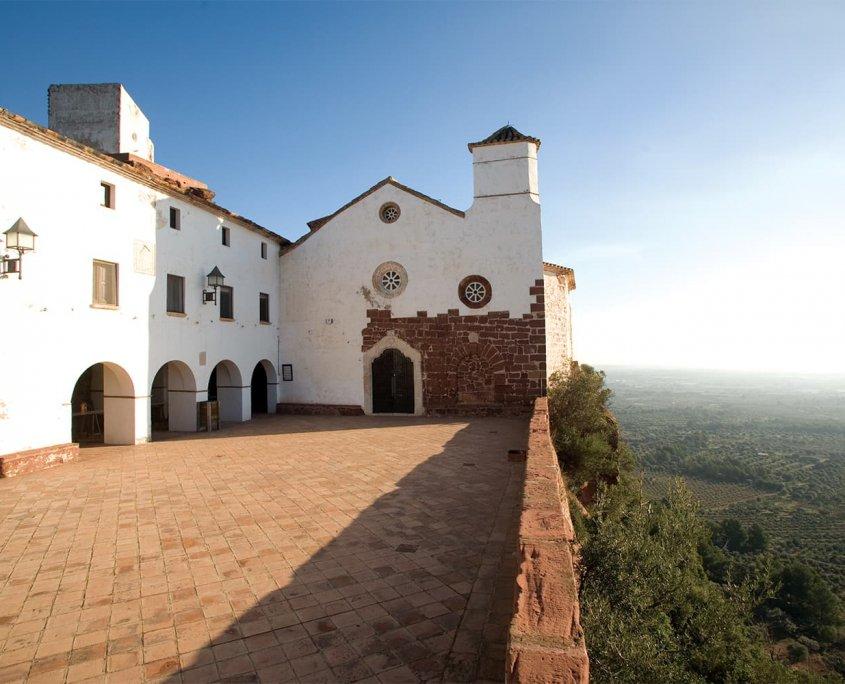 Veduta esterna dell'Eremo de la Virgen