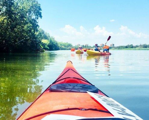 In kayak lungo il corso del Fluvià