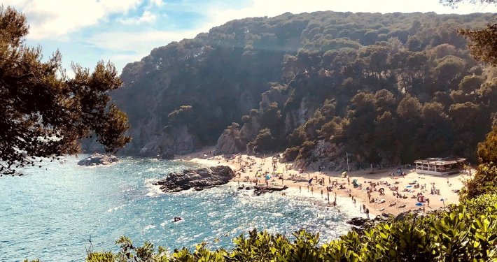 Veduta di una delle spiagge di Lloret de Mar